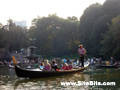 Rowing in Central Park: Gondolier