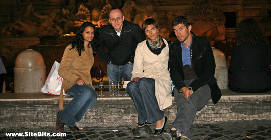 SiteBits Contributors Next To Trevi Fountain