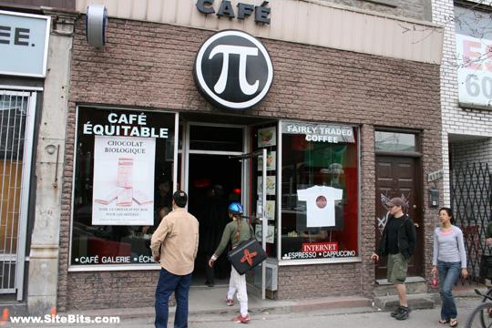 Pi Café: Exterior