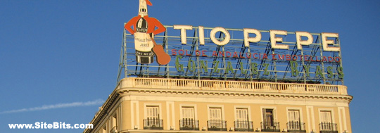 The Tío Pepe Sign during the day