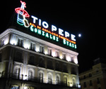 Tío Pepe sign at night