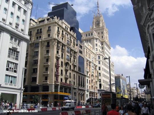 Madrid: Gran Vía & Telefonica Building