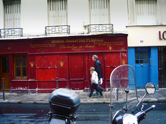 Rue Pastourelle in the Marais (3rd arr)