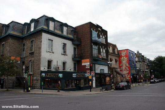quartier latin rue st denis and rue ontario montreal. Black Bedroom Furniture Sets. Home Design Ideas