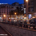 Barcelona, Spain: Parked Bikes at night(thumb)