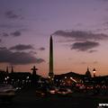 Champs Elysées and Place de la Concorde. Evening.(thumb)