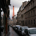 Eiffel Tower from Rue de l'Admiral Hamelin(thumb)